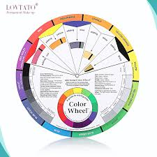 Us 3 41 12 Off Tattoo Pigment Color Wheel Guide To Mixing Colors Nail Polish Gel Palette Wheels Paper Card Microblading Accesories Ink Chart In