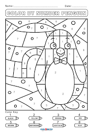 This color by number coloring page enters the world of dinosaurs and prehistoric earth. Free Color By Number Worksheets Cool2bkids