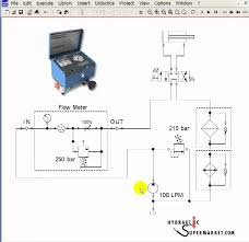 how to use a flowmeter when hydraulic troubleshooting youtube hydraulic cylinder test bench schematic Hydraulic Test Bench Schematic #13