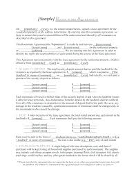 Rental Contract Template Free Room Lease Agreement Form Roommate ...