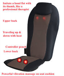 carepeutic full back relax shiatsu oscillation massage cushion with vibration and heat therapy com