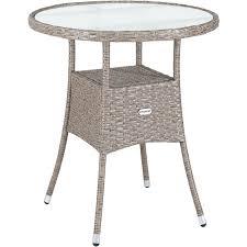 casaria poly rattan garden side table