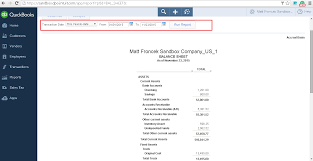 Online Balance Sheet Qodbc Online How To Run A Balance Sheet Detail Report In