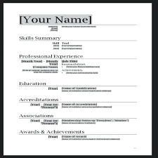 Free Modern Resume To Download Word Format Cv Template Free Download Professional Doc Modern Resume