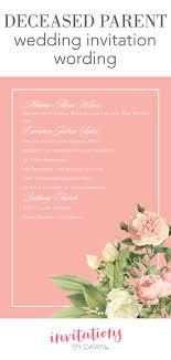 Deceased Parent Wedding Invitation Wording Invitations By Dawn Wedding Invitation Wording Deceased Parent