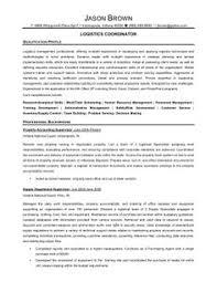 senior logistic management resume logistics coordinator1 logistics resume