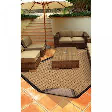 premium outdoor rug pad brown