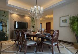 appealing modern dining room with wooden sleek table and chairs completed by table decorations and dining