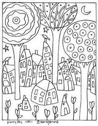Small Picture Coloring Page Folk Art Coloring Pages Coloring Page and