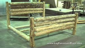 lake cabin furniture. Cedar Lake Rodeo Log Bed   Cabin Beds Furniture From JHE\u0027s Place - YouTube