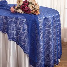 108 round lace table overlays royal blue 90822 1pc pk