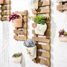 grid strip wooden wall hanging rack