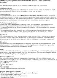 Emergency Management Resume Templates Best of Inventory Management Specialist Job Description Resume Inventory