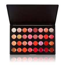 anself 32 color warm color sh matte bine lady makeup set lip gloss palatte