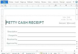 Petty Cash Receipt Template Petty Cash Receipt Template Free Standard Form For Business