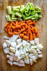 miʁ.pwa) is a flavor base made from diced vegetables cooked—usually with butter, oil, or other fat—for a long time on low heat without coloring or browning, as further cooking, often with the addition of tomato purée, creates a darkened brown mixture called pinçage. Make Way For Mirepoix Kates Catering