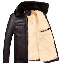 whole new 2018 leather jackets men thickening warm windbreak men coats winter warm jacket men s fashion luxury leather mens fur coat direct from
