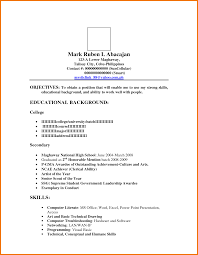 Sample Resume For Fresh Graduate Nurse Philippines Fresh Sample