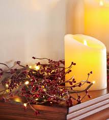 Battery Operated Lighted Garland Details About Battery Operated Lighted Holiday Garland Red