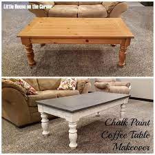 chalk paint coffee table makeover