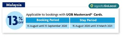 off hotel booking with uob mastercard