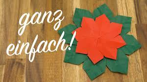 Weihnachtsstern Falten Origami Weihnachtsschmuck Basteln