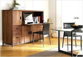 oak hidden home office. Armoires: Office Desk Armoire Cabinet Hidden Oak Home