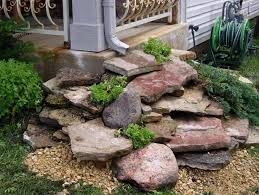 diy downspout water drainage using rocks these are the best garden diy