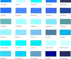 Shades Of Blue Paint Color Chart Light Shades Of Blue Paint Renowacja Info