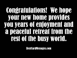 New Home Quotes Fascinating New House Congratulations Card Messages