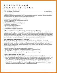 Ra Resume Resume Resident Assistant Enderrealtyparkco 4
