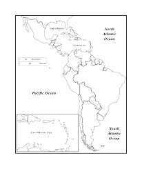 Blank Map Of Latin American Countries And Travel Information