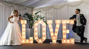 Wedding Love Lights Home Light Up Letters Mk