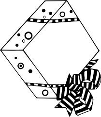 birthday present clip art black and white. Modren Art Present  Free Stock Photo Illustration Of A Wrapped Present With   Image In Birthday Clip Art Black And White F