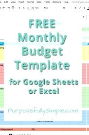 Free Monthly Budget Template Spreadsheet Excel Sheet Pdf Worksheet ...