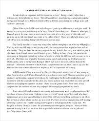 My Leadership Story Essay