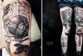 омич сделал татуировку с изображением шара бухгольца и строчки из