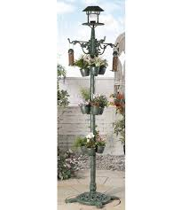 Image For Solar Planter And Bird Feeder Lamp Post From Studio Bung