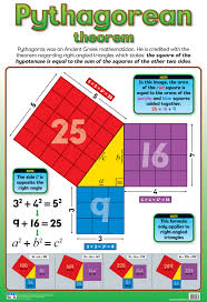Pythagoras Theorem Chart Pythagorean Theorem Chart Laminated 76cm X 52cm