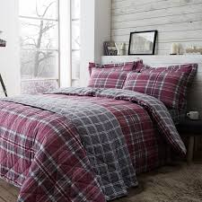 images brushed cotton mcgill check duvet cover
