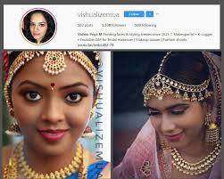 vish col min top 10 bridal makeup artists in chennai you should follow on