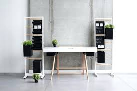 simple minimalist home office. Minimalist Home Office Simple Design With Hanging Storage And Black Cubical Potted Plants A