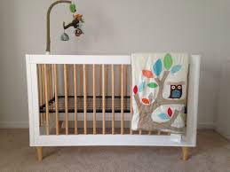 babyletto lolly in convertible crib white and natural