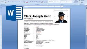 Charming Decoration How To Create A Resume On Word How To Create A