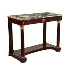 empire walnut bronze console table