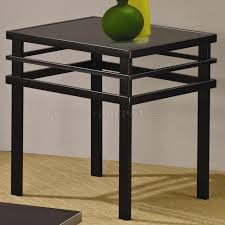 image black and glass end tables metal base top modern coffee table set p side for living room gold uk small smoked round wrought iron accent marble very