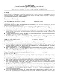 Account Manager Resume Objective Template Design In For It Job