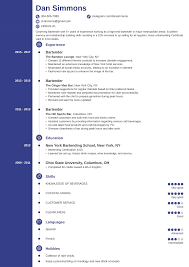 Bartender Resume Sample Complete Guide 20 Examples