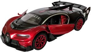 Bugatti veyron grand sport vitesse 2012 ». Amazon Com Lmoy 1 32 Scale Bugatti Chiron Vision Grand Turismo Gt Zinc Alloy Pull Back Die Cast Model Car Toy Collection With Light Sound Red Toys Games