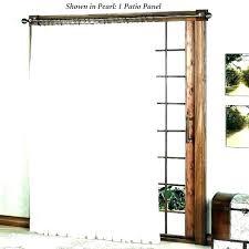 patio door ds single panel sage pinch pleated ds